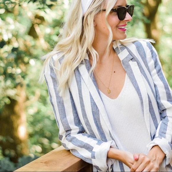 GAP linen stripe blazer - size 0